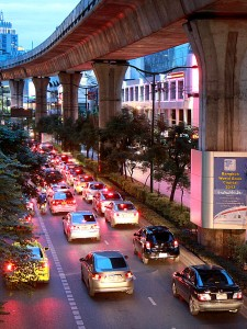 Spend any time in Bangkok and you'll realise that the city has a major traffic problem...
